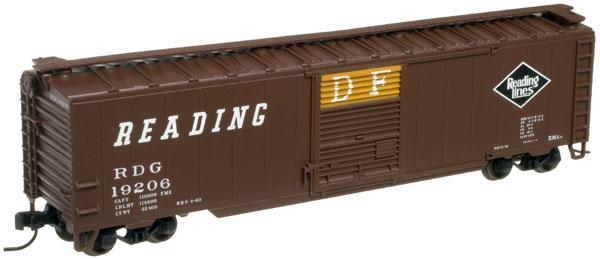 N Scale - Atlas - 38945 - Boxcar, 50 Foot, Steel - Reading - 19206