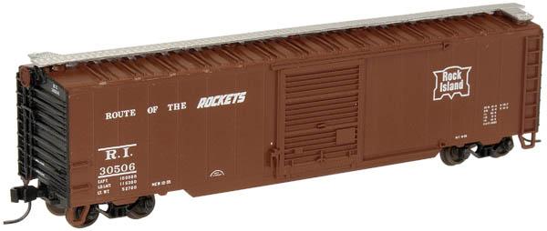 N Scale - Atlas - 38923A - Boxcar, 50 Foot, Steel - Rock Island - 30506