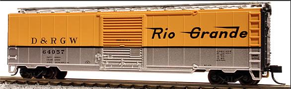 N Scale - Atlas - 38910A - Boxcar, 50 Foot, Steel - Rio Grande - 64064