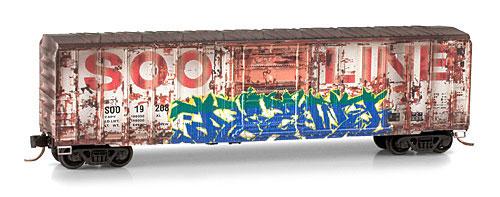 N Scale - Micro-Trains - 027 44 360 - Boxcar, 50 Foot, Steel - SOO Line - 19208