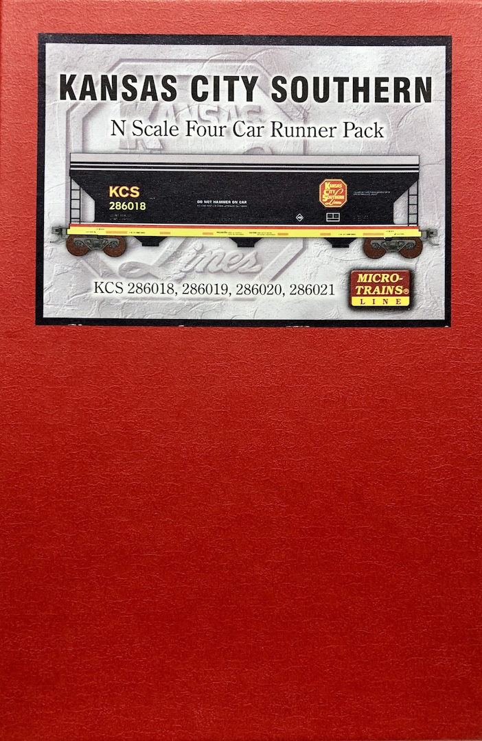 N Scale - Micro-Trains - 993 00 023 - Boxed Set, Runner Pack - Kansas City Southern - 4-Pack