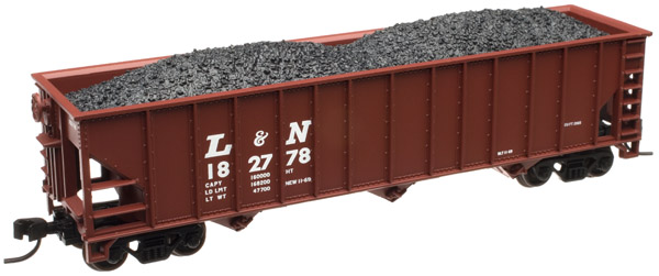 N Scale - Atlas - 50 000 318 - Open Hopper, 3-Bay, 90 Ton - Louisville & Nashville - 182799