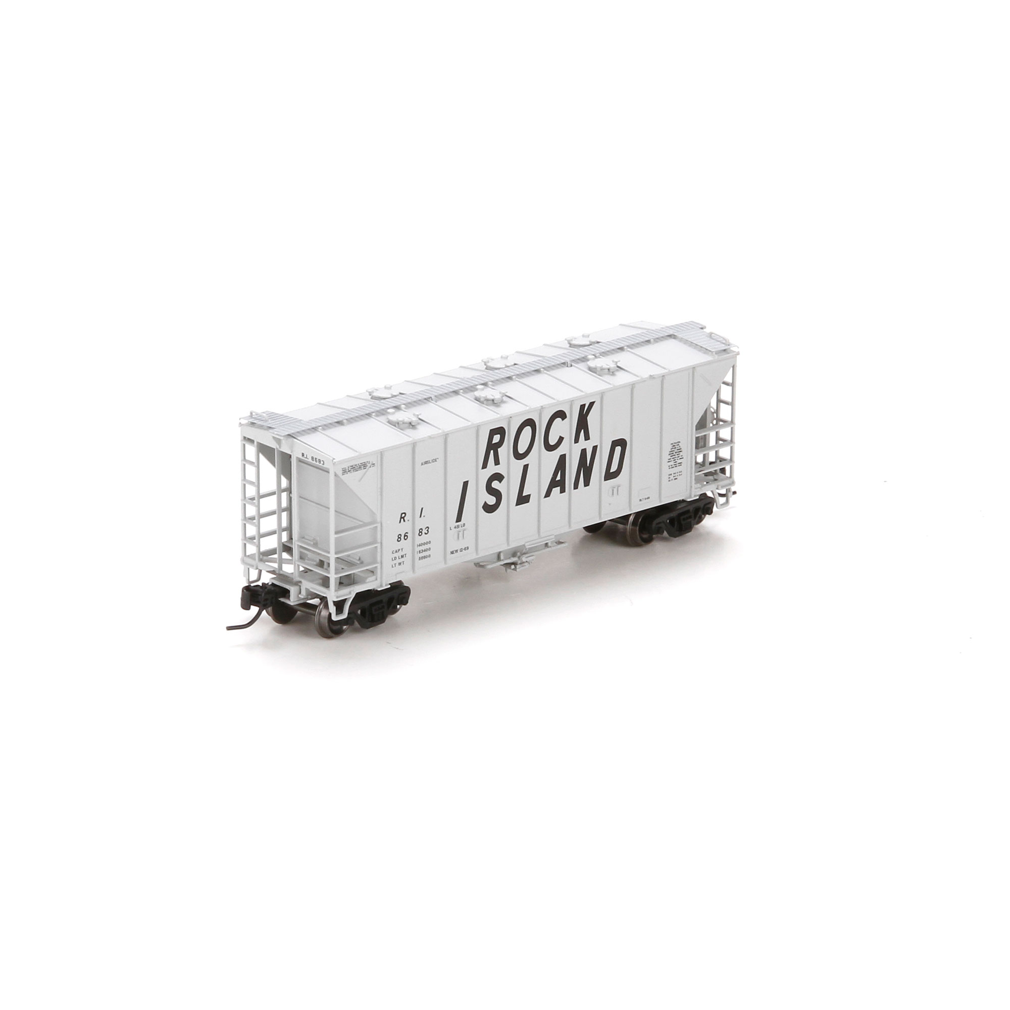 N Scale - Athearn - 23897 - Covered Hopper, 2-Bay, GATX Airslide 2600 - Chicago, Rock Island and Pacific Railroad - 8683
