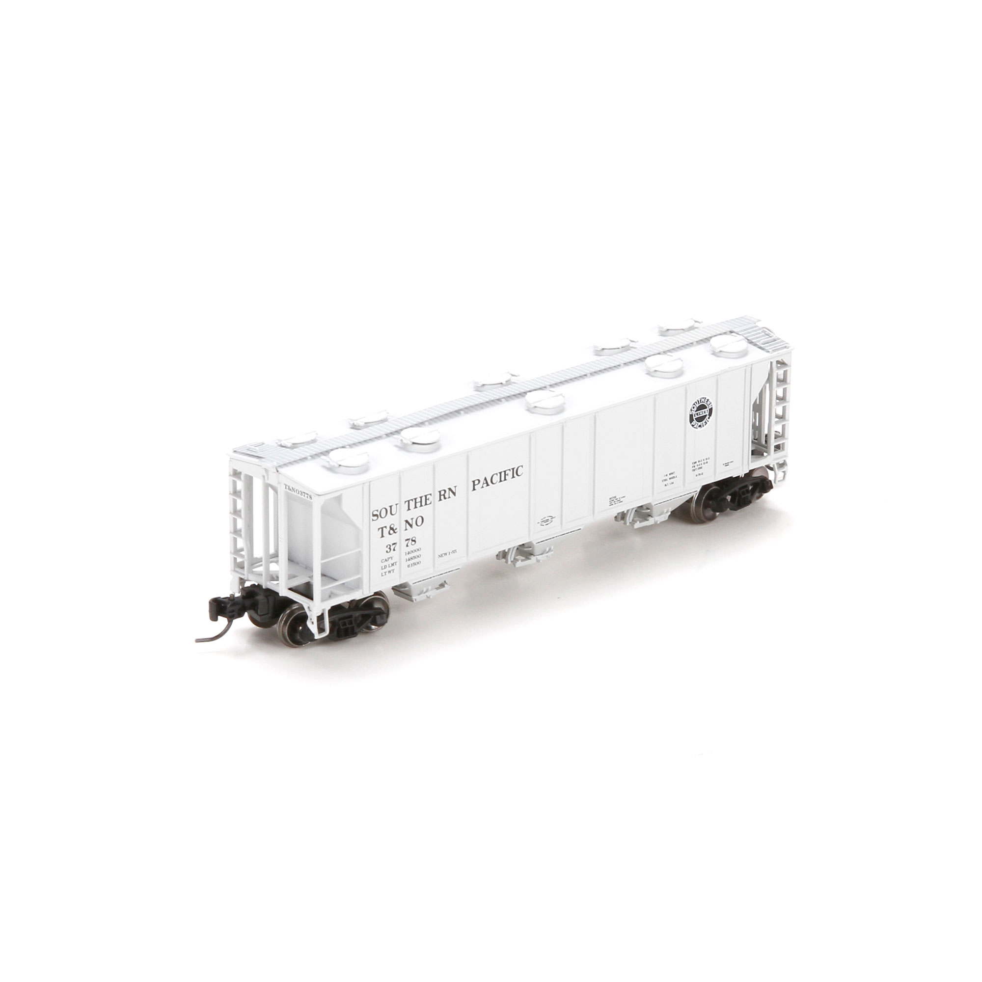 N Scale - Athearn - 23861 - Covered Hopper, 3-Bay, PS2 2893 - Southern Pacific - 3778