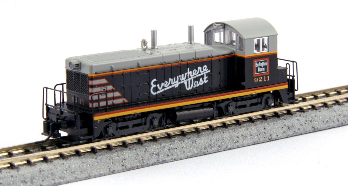N Scale - Kato USA - 176-4368 - Locomotive, Diesel, EMD NW2 - Burlington Route - 9211