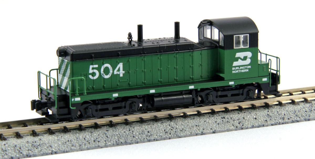 N Scale - Kato USA - 176-4369 - Locomotive, Diesel, EMD NW2 - Burlington Northern Santa Fe - 504
