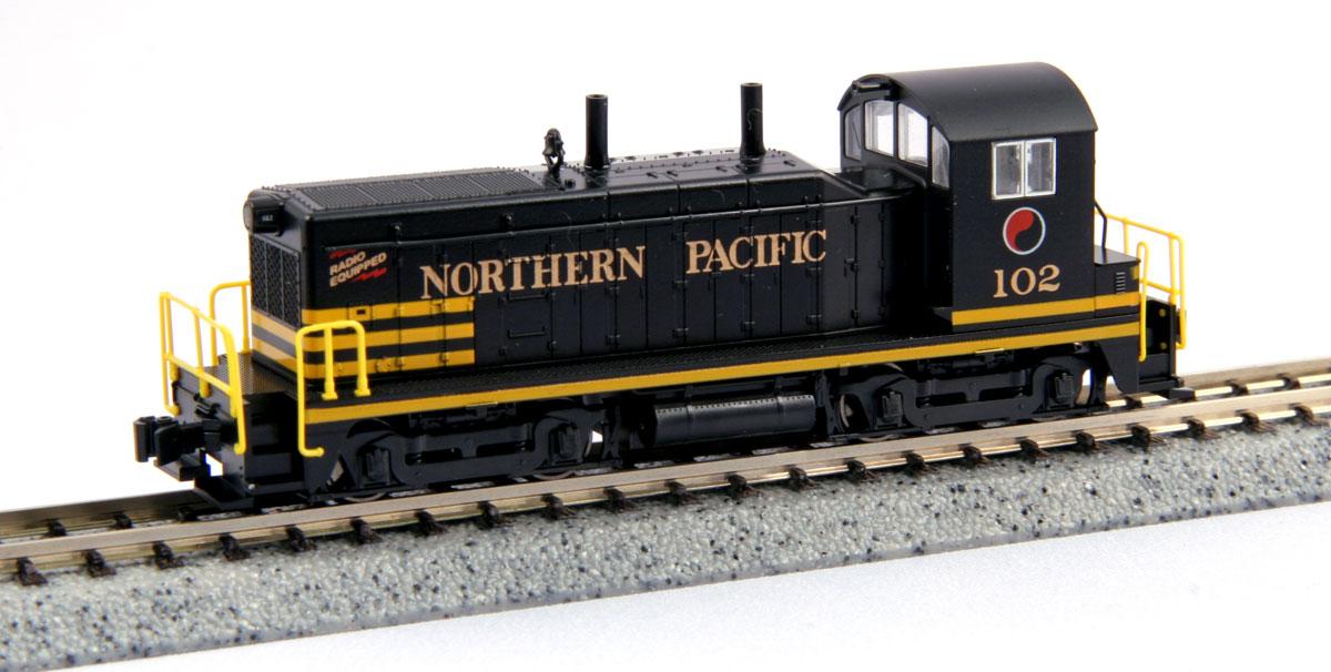N Scale - Kato USA - 176-4371 - Locomotive, Diesel, EMD NW2 - Northern Pacific - 102