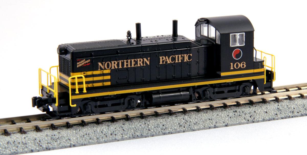 N Scale - Kato USA - 176-4372 - Locomotive, Diesel, EMD NW2 - Northern Pacific - 106