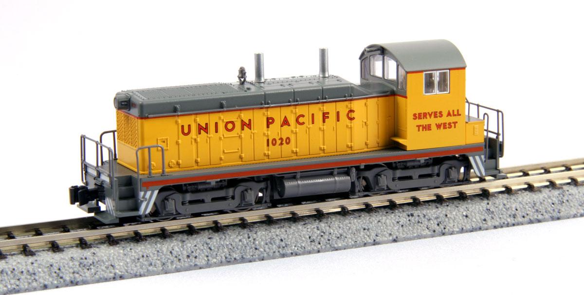 N Scale - Kato USA - 176-4373 - Locomotive, Diesel, EMD NW2 - Union Pacific - 1020