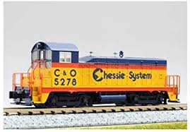 N Scale - Kato USA - 176-4358 - Locomotive, Diesel, EMD NW2 - Chessie System - 5278