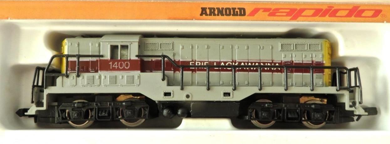 N Scale - Arnold - 0271C - Locomotive, Diesel, EMD GP7 - Erie Lackawanna - 1400