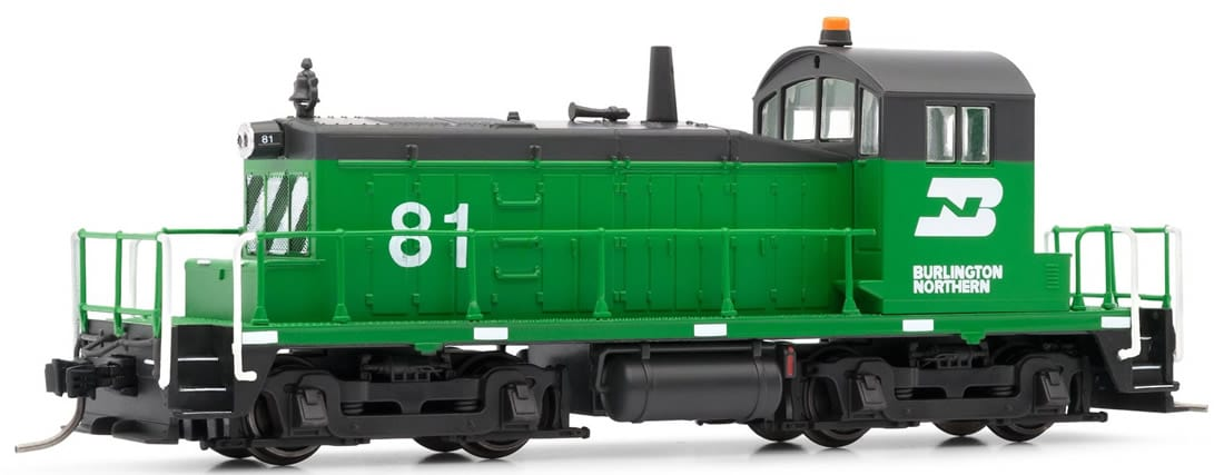 N Scale - Arnold Hornby - HN2252 - Locomotive, Diesel, EMD SW1 - Burlington Northern - 81