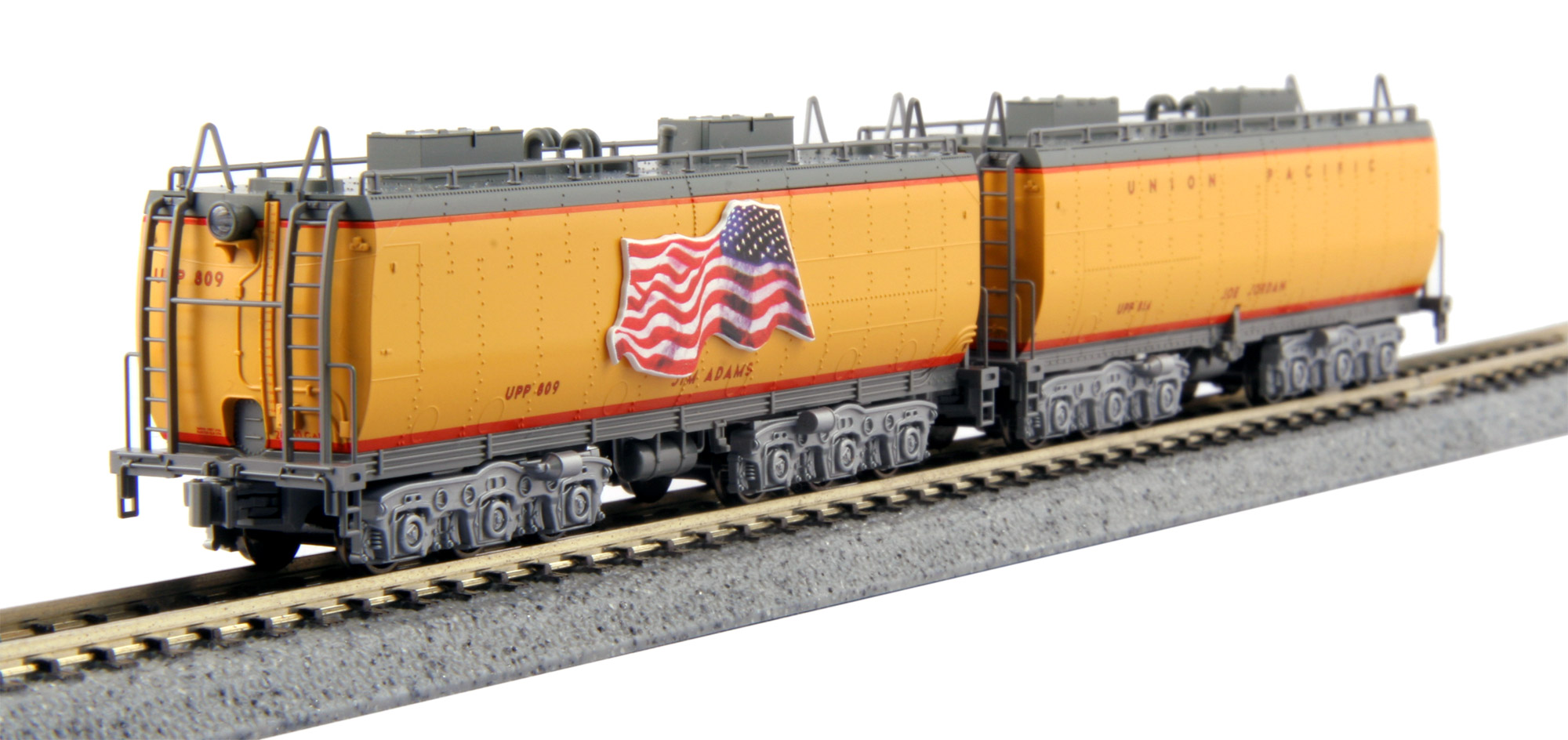 N Scale - Kato USA - 106-085 - Tender, Steam - Union Pacific - 2-Pack