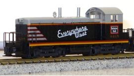 N Scale - Kato USA - 176-4355 - Locomotive, Diesel, EMD NW2 - Burlington Route - 9208