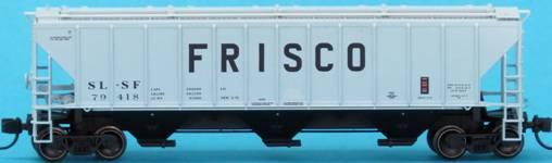 N Scale - Trainworx - 24436-06 - Covered Hopper, 3-Bay, PS 4427 - Frisco - 79475