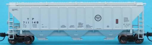 N Scale - Trainworx - 24403-02 - Covered Hopper, 3-Bay, PS 4427 - Missouri Pacific - 711239