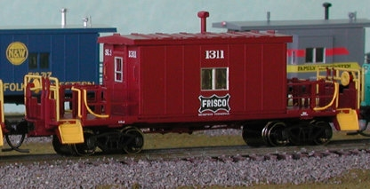 N Scale - Bluford Shops - 24190 - Caboose, Transfer - Frisco - 1311
