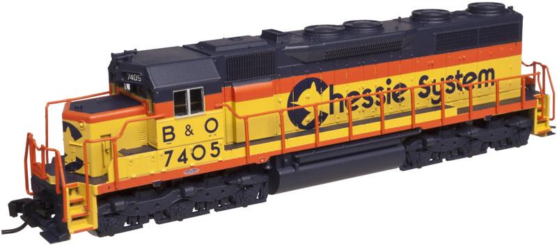 N Scale - Atlas - 40 002 104 - Locomotive, Diesel, EMD SD35 - Chessie System - 7405