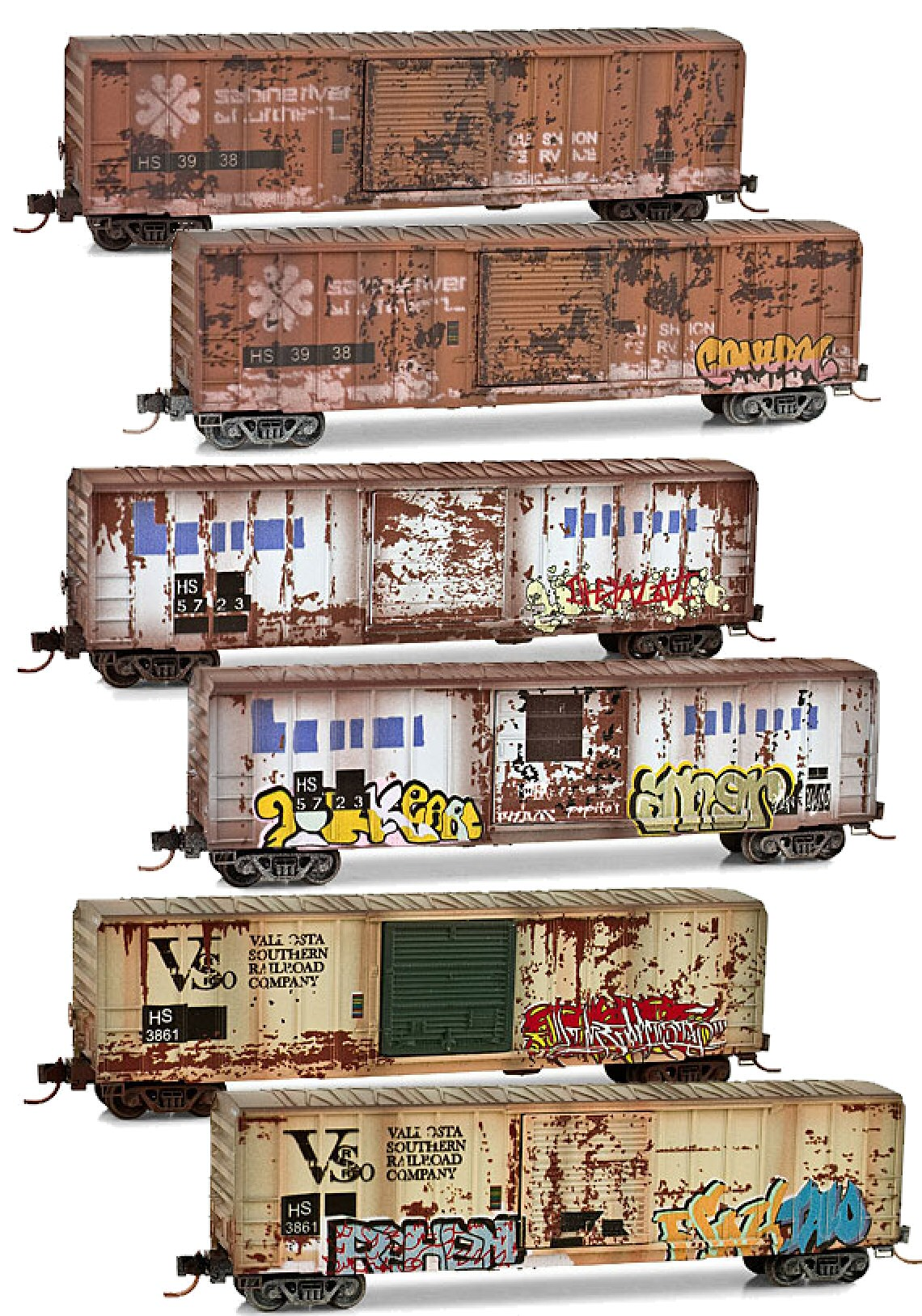 N Scale - Micro-Trains - 993 05 160 - Boxed Set, Runner Pack - Hartford & Slocumb