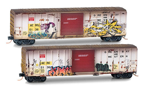 N Scale - Micro-Trains - 025 52 049 - Boxcar, 50 Foot, FMC, 5077 - Albany & Eastern - 5136
