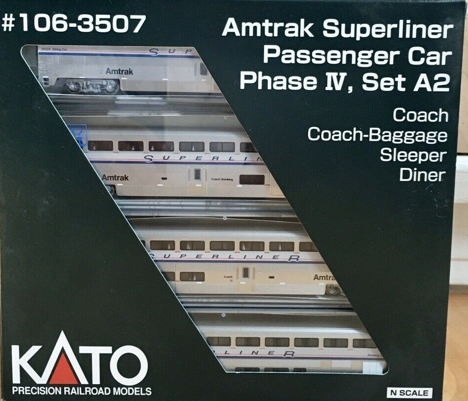 N Scale - Kato USA - 106-3507 - Passenger Car, Superliner - Amtrak