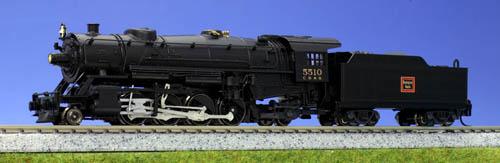 N Scale - Kato USA - 126-0211 - Locomotive, Steam, 2-8-2 Heavy Mikado - Burlington Route - 5510