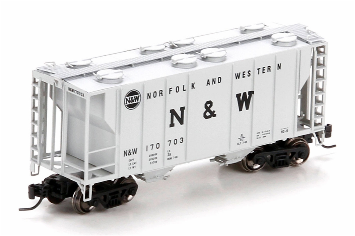 N Scale - Athearn - 24180 - Covered Hopper, 2-Bay, PS2 - Norfolk & Western - 170703