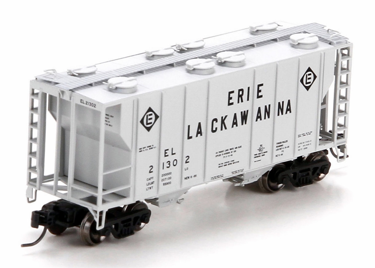 N Scale - Athearn - 24177 - Covered Hopper, 2-Bay, PS2 - Erie Lackawanna - 21302