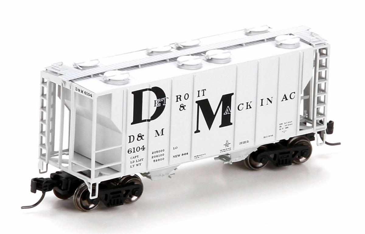 N Scale - Athearn - 24176 - Covered Hopper, 2-Bay, PS2 - Detroit & Mackinac - 6142