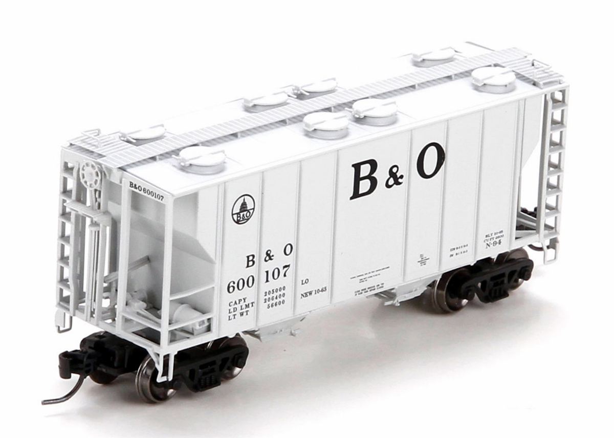 N Scale - Athearn - 24170 - Covered Hopper, 2-Bay, PS2 - Baltimore & Ohio - 600172