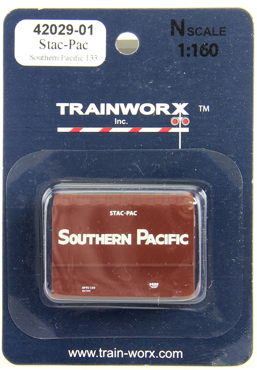 N Scale - Trainworx - 42029-04 - Container, Intermodal, 20 Foot, Stac-Pac - Southern Pacific - 313