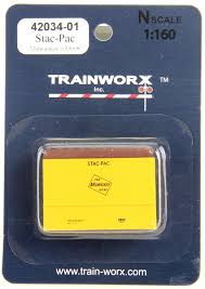 N Scale - Trainworx - 42034-04 - Container, Intermodal, 20 Foot, Stac-Pac - Milwaukee Road - 633139
