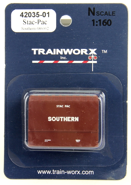 N Scale - Trainworx - 42035-03 - Container, Intermodal, 20 Foot, Stac-Pac - Southern - 686013