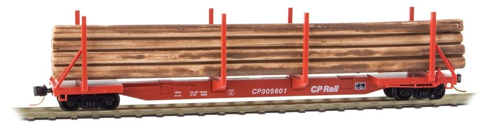 N Scale - Micro-Trains - 115 00 051 - Log Car, 65 Foot Evans Upright - Canadian Pacific - 305601