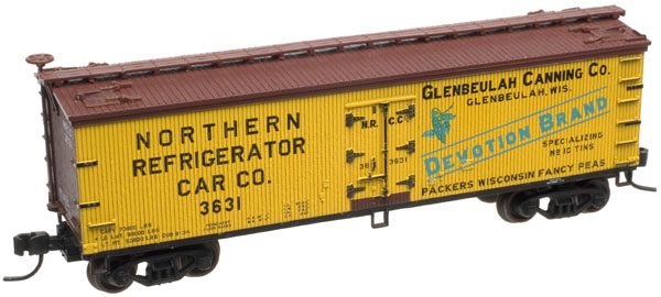 N Scale - Atlas - 41568 - Reefer, Ice, Wood - Glenbeulah Canning Company - 3630
