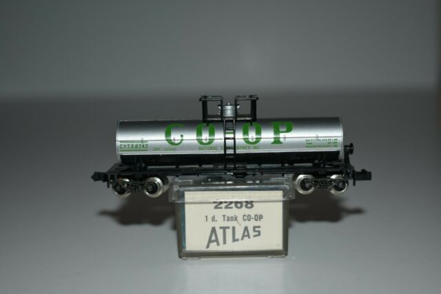 N Scale - Atlas - 2268 - Tank Car, Single Dome, 39 Foot - National Cooperatives - 8743