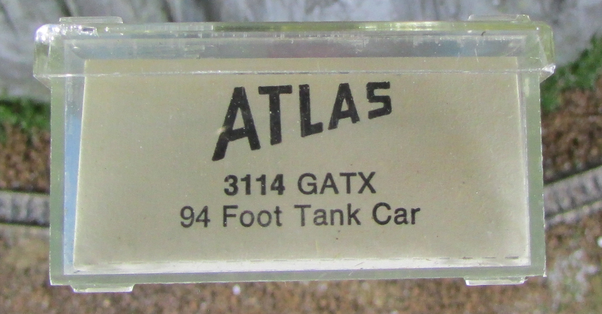 N Scale - Atlas - 3114 - Tank Car, 94 Foot Whale Belly - GATX - 96500