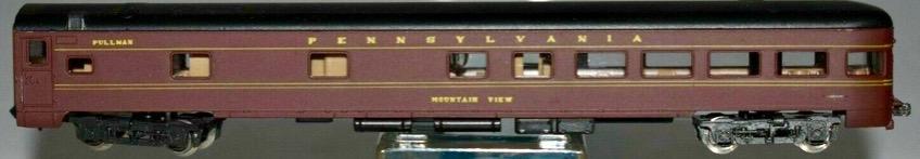 N Scale - Atlas - 2654 - Passenger Car, Lightweight, Pullman Observation Sleeper - Pennsylvania - Mountain View