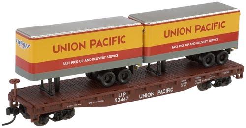N Scale - Atlas - 37594A - Flatcar, 50 Foot - Union Pacific - 53471