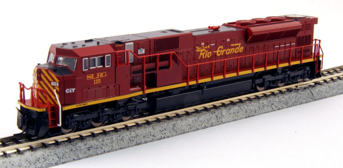 N Scale - Kato USA - 176-5620 - Locomotive, Diesel, EMD SD90MAC - San Luis & Rio Grande - 115