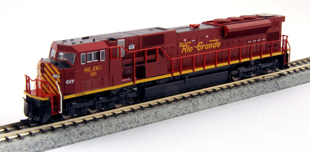 N Scale - Kato USA - 176-5621 - Locomotive, Diesel, EMD SD90MAC - San Luis & Rio Grande - 116