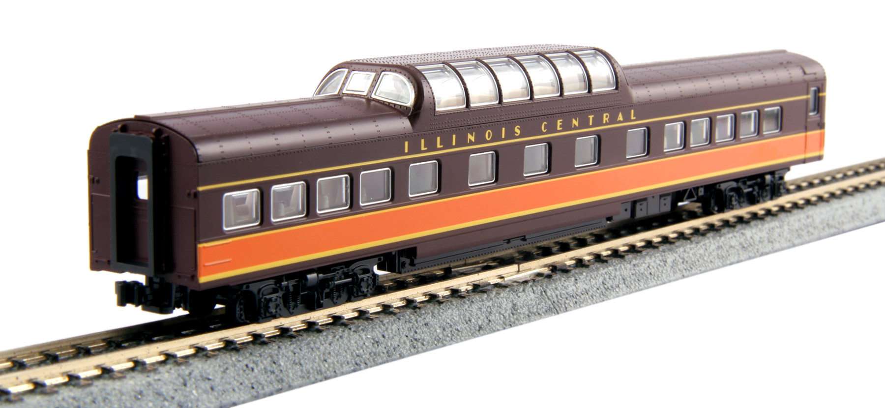 N Scale - Kato USA - 106-096-PART - Passenger Car, Lightweight, ACF - Illinois Central