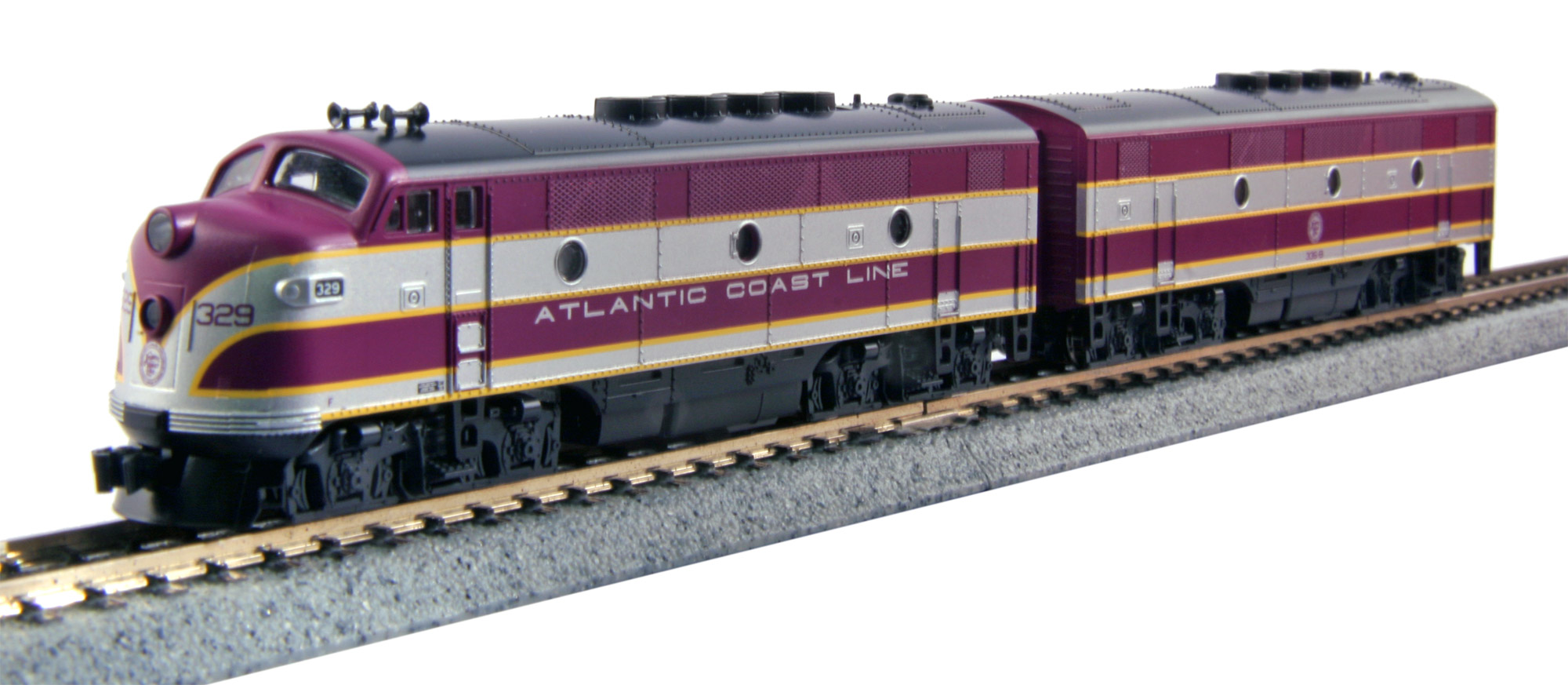N Scale - Kato USA - 106-0201 - Locomotive, Diesel, EMD F2 - Atlantic Coast Line