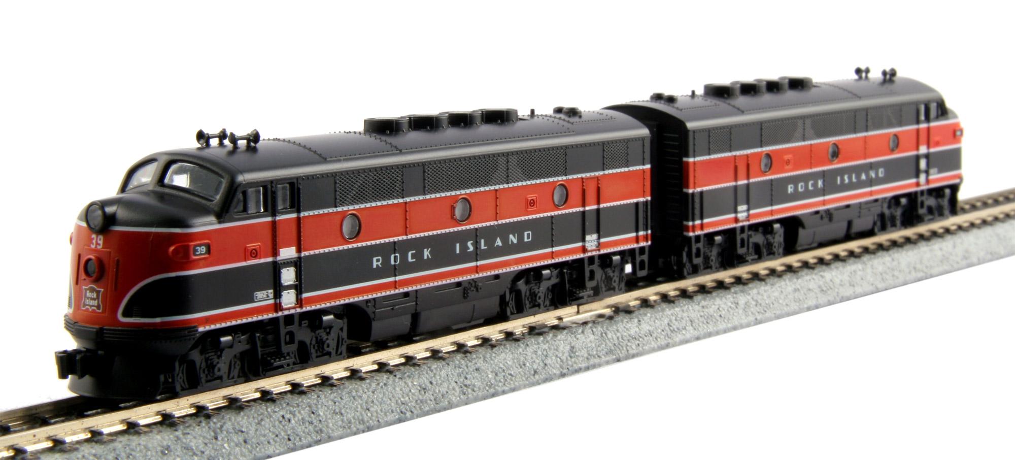 N Scale - Kato USA - 106-0203 - Locomotive, Diesel, EMD F2 - Rock Island
