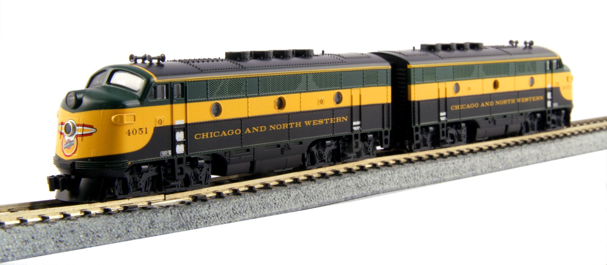 N Scale - Kato USA - 106-0204 - Locomotive, Diesel, EMD F3 - Chicago & North Western - 4051, 4052