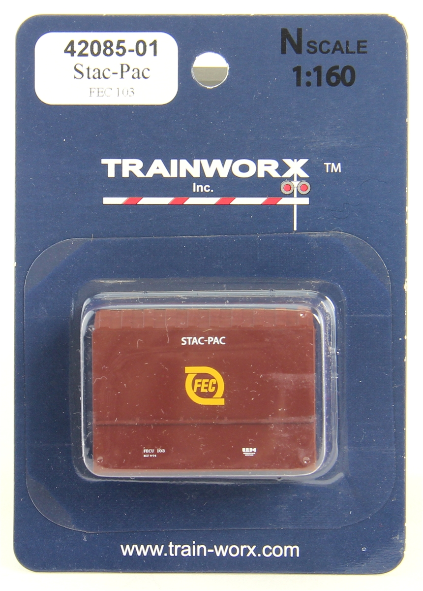 N Scale - Trainworx - 42085-01 - Container, Intermodal, 20 Foot, Stac-Pac - Florida East Coast - 103