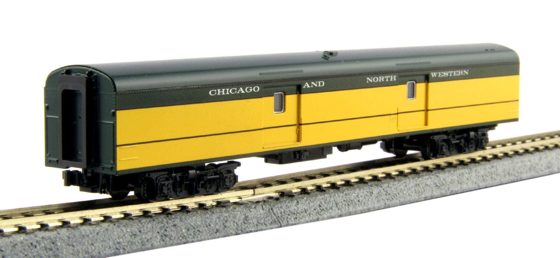 N Scale - Kato USA - 106-094-PART - Passenger Car, Lightweight, ACF - Chicago & North Western