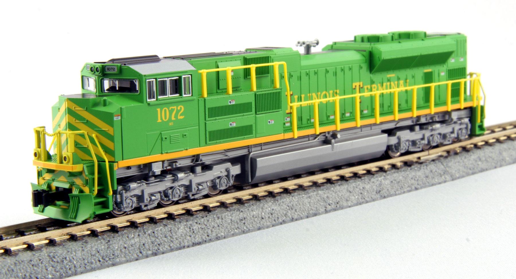N Scale - Kato USA - 176-8502 - Locomotive, Diesel, EMD SD70 - Illinois Terminal - 1072