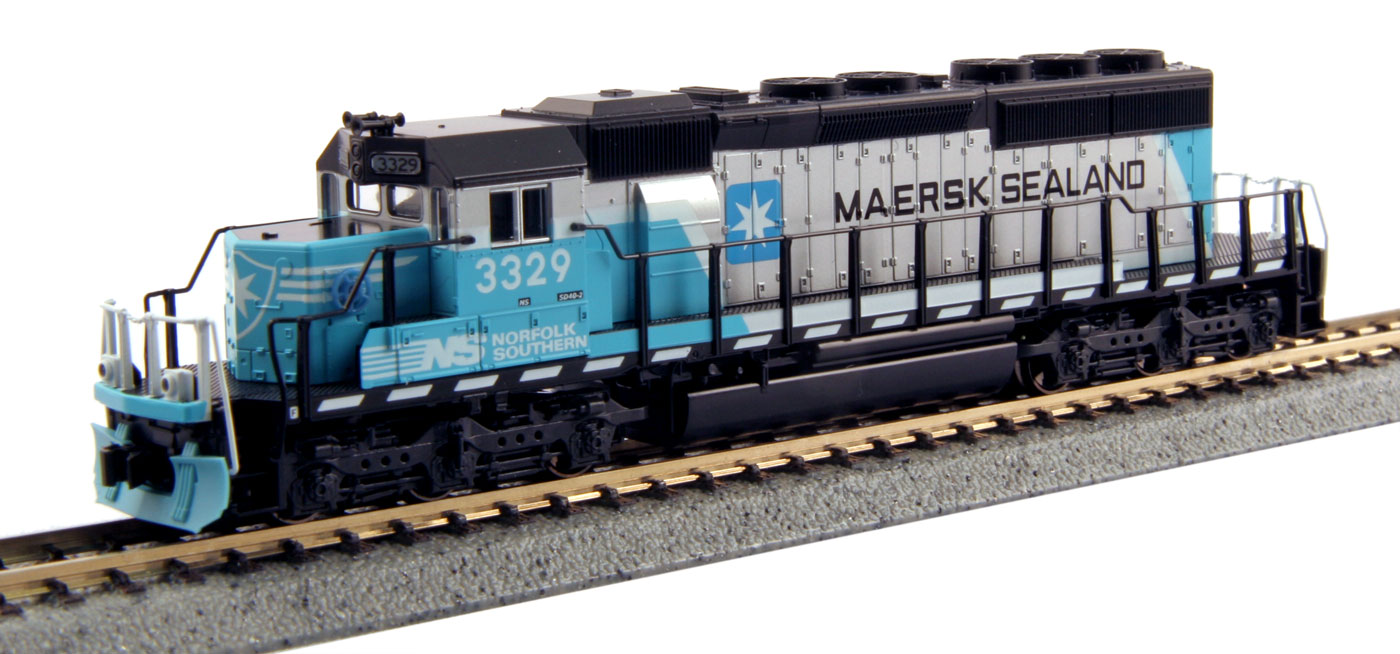 N Scale - Kato USA - 176-4959 - Locomotive, Diesel, EMD SD40-2 - Maersk - 3329