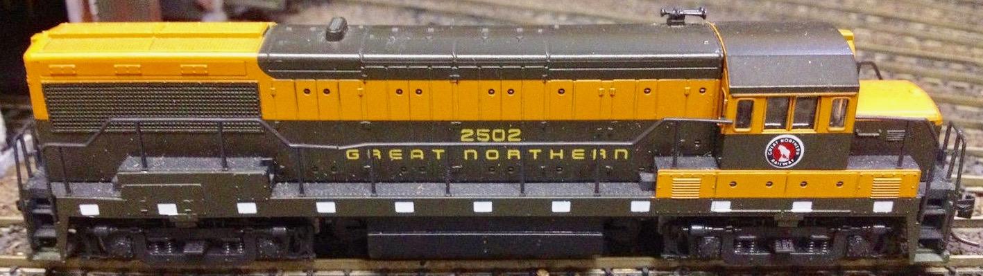 N Scale - Atlas - 4480 - Locomotive, Diesel, GE U25B - Great Northern - 2502